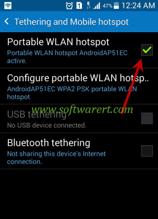 enable portable wifi hotspot on samsung galaxy grand prime