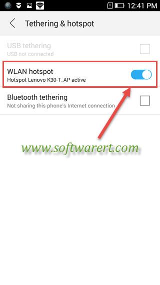 enable wifi hotspot on lenovo phone