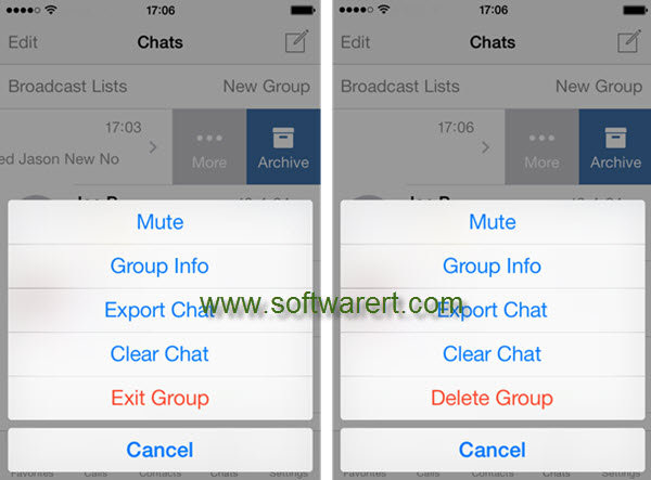 How to delete WhatsApp groups?