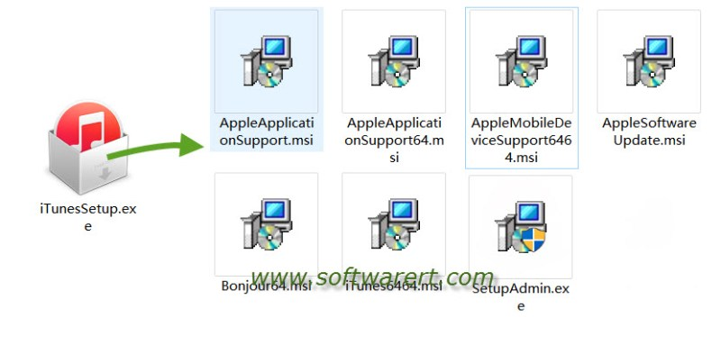 extract itunes setup file on pc