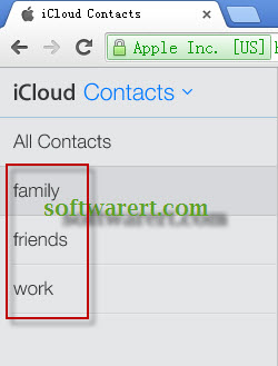 icloud contacts groups