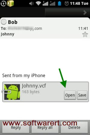 import contacts from email to android phone