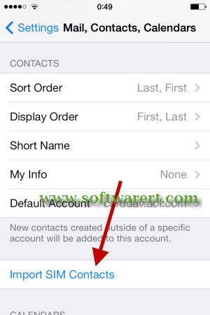 import sim contacts to iphone
