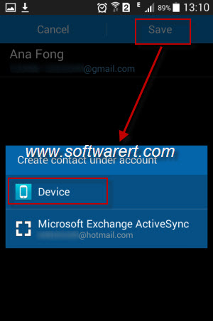 import vcf contacts from email to samsung mobile phone