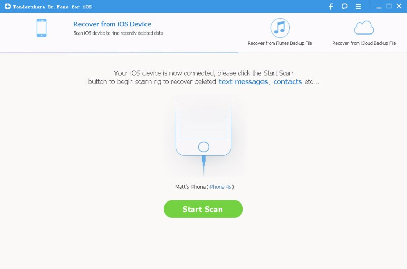 ios data recovery tool to scan iphone