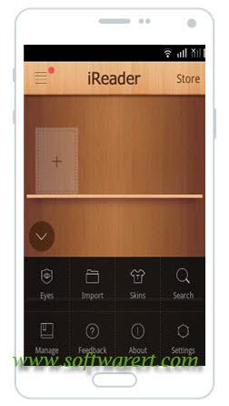 ireader ebook app menu