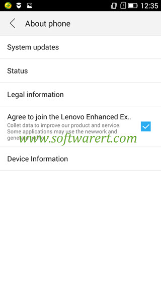 lenovo mobile about phone