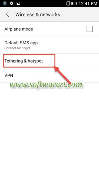 lenovo phone tethering and hotspot settings
