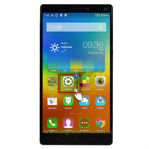 lenovo vibe mobile phone settings