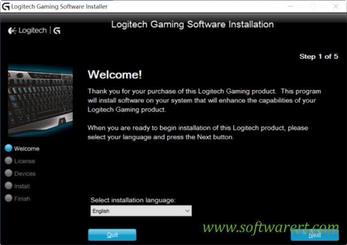 logitech gaming software installation