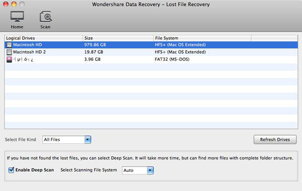 lost file recovery mac