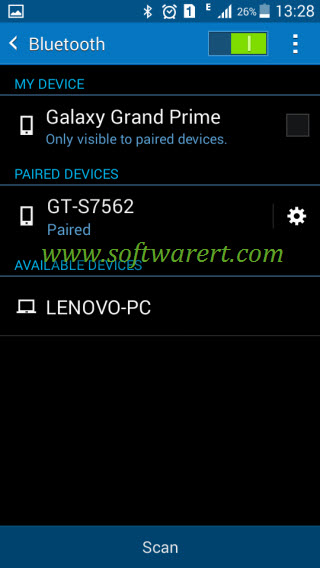 manage bluetooth devices on samsung galaxy mobile phone