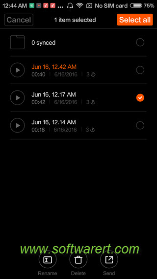 manage sound recordings on xiaomi phone