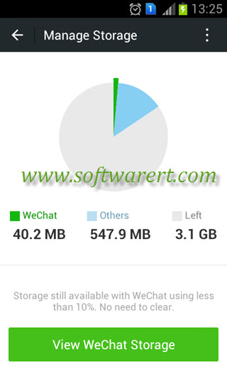 manage wechat storage on android mobile