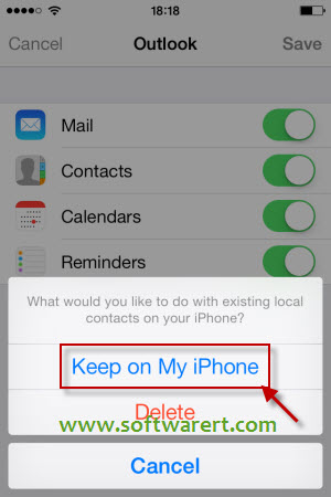 merge iphone contacts and hotmail contacts