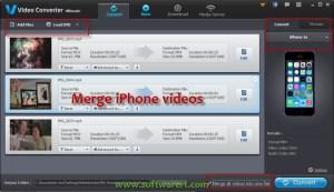 Merge iPhone or iPad Videos