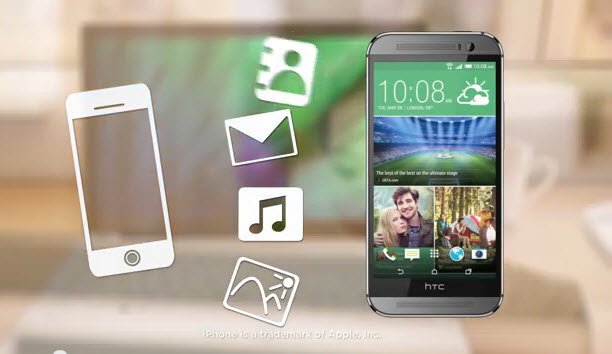 move content iphone to htc through htc sync
