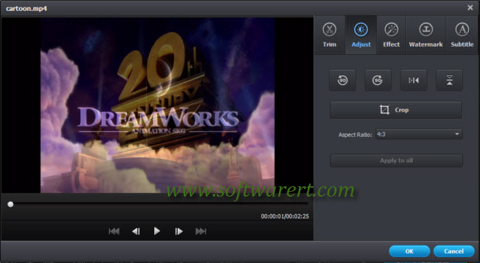 preview video in 4:3 aspect ratio