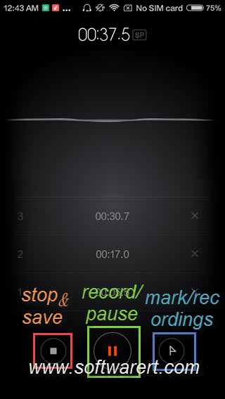 record sound on xiaomi phone using  stock sound recorder app