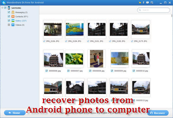 recover files from Nexus android