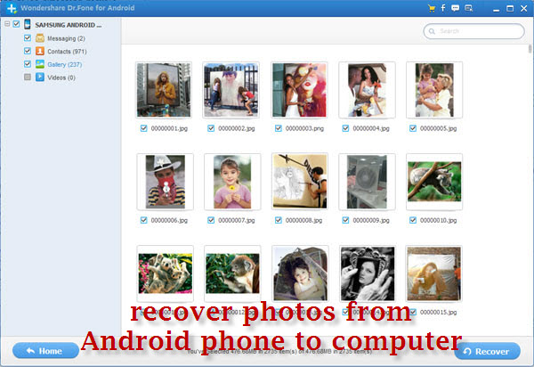recover photos from android phones
