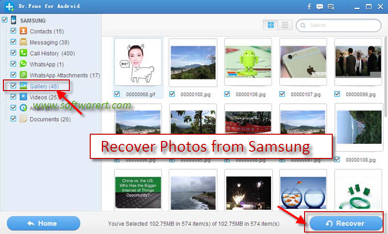 recover photos from samsung mobile phone