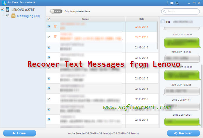 recover text messages from lenovo mobile phone