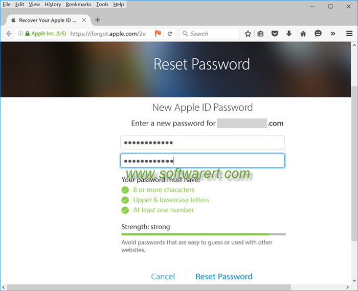 How to make new apple id password