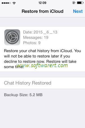 How to restore WhatsApp messages on iPhone?