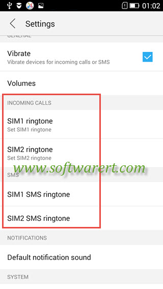 Change and Activate ringtones on Lenovo mobile phone