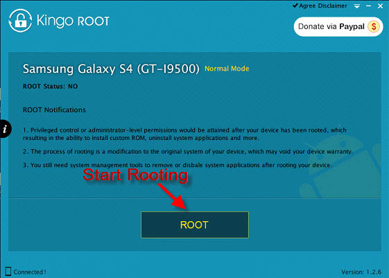 application root s4