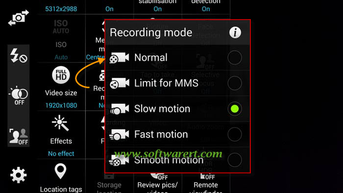 Enable Slow Motion Video Recording on Samsung