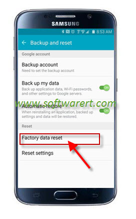 samsung galaxy s6 factory data reset