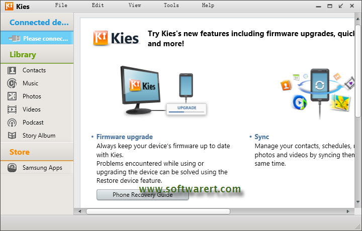 Sync & Transfer Contacts using Samsung Kies