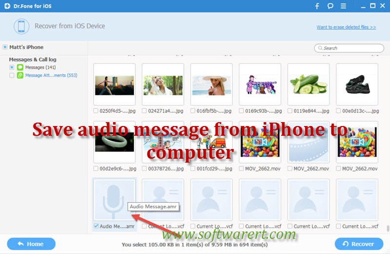 save audio messages from iPhone to computer