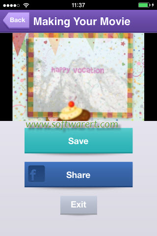save share photo slideshow movie on iphone