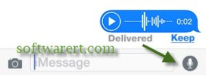 Send Free Audio Messages on iPhone