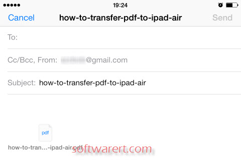 send pdf files through email on ipad iphone