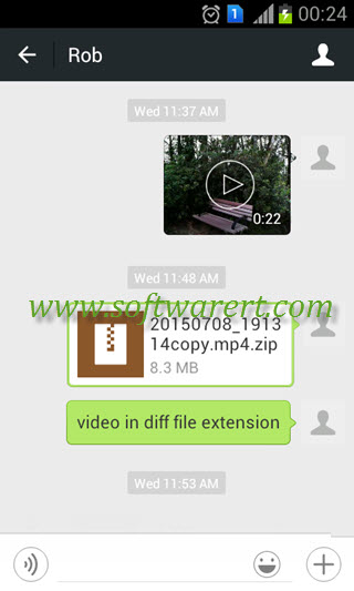 send video in original size through wechat on android