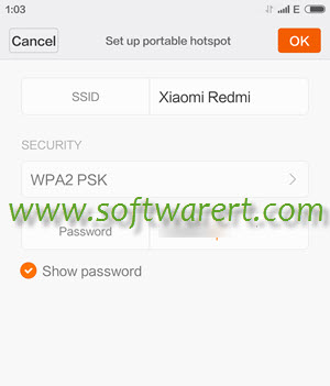 setup portable hotspot on xiaomi redmi mobile phones