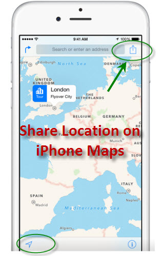 share your location on iphone maps