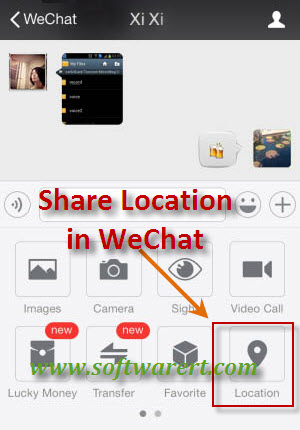 Send and Share your Location using WeChat on Mobile Phones