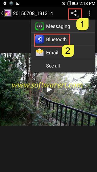 share photos videos through bluetooth from lenovo phone