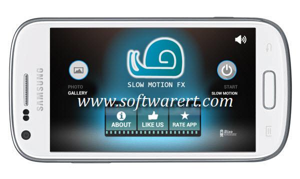 slow motion video fx app on samsung mobile phone