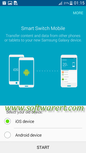 Import Content from iCloud to Samsung Mobile Phone