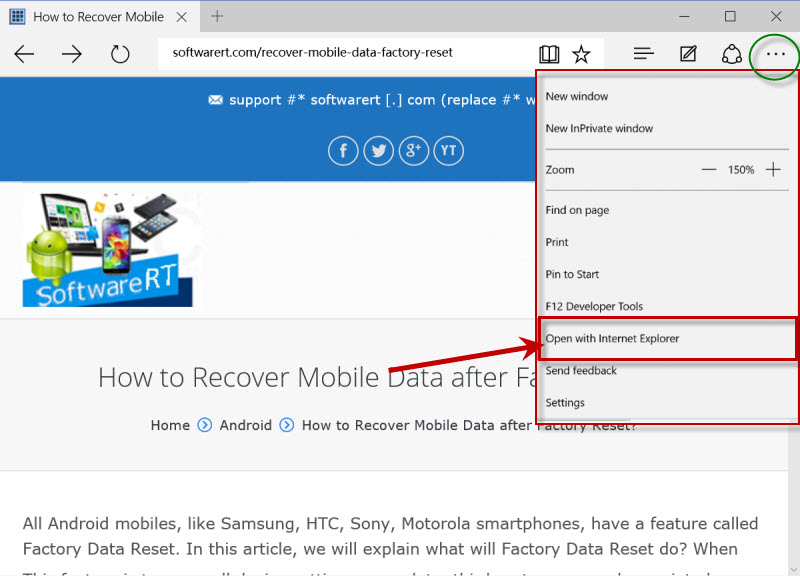Find and Open Internet Explorer in Windows 10