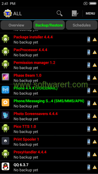 back up and restore data using titanium backup app on android phone