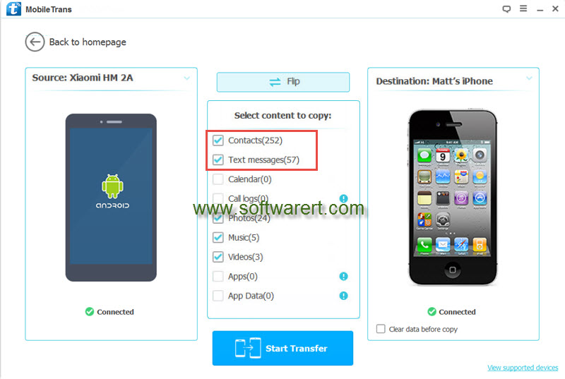 transfer iphone contacts transfer contacts and messages from xiaomi to iphone 2592