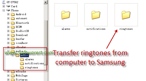 transfer ringtones computer to samsung mobile phone