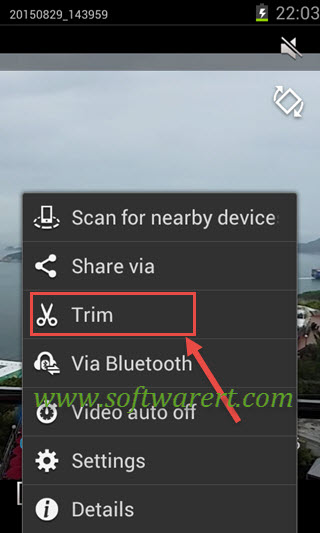 How to trim videos on Samsung mobile phones?